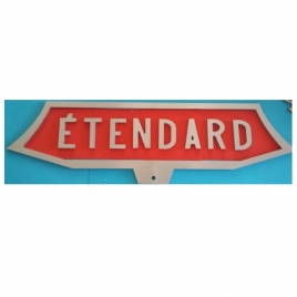 Plaque train Etendard