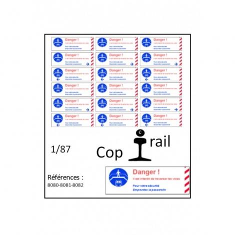 Signalétique 1/87 réf : 8081-8082-8083