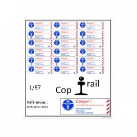 Signalétique 1/87 réf : 8090-8091-8092