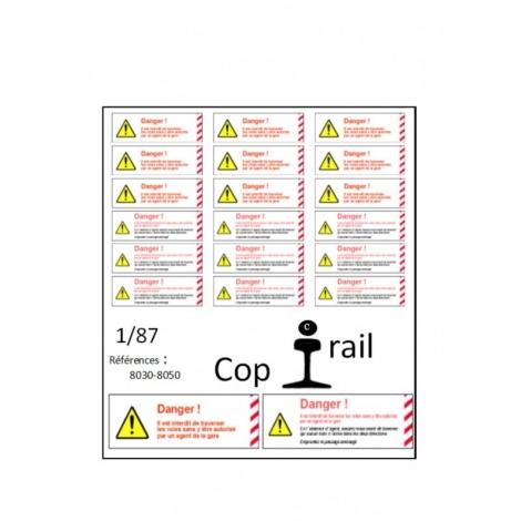Signalétique 1/87 réf 8030