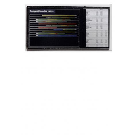 Tableau de composition des trains HO 1/87