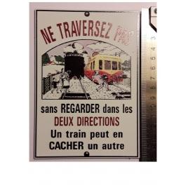 """Plaque """"Ne traversez pas """" Picasso, format carte postale 15 x 10,5"""