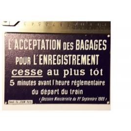 """Plaque """"Ne traversez pas """"Train Jaune, format carte postale 15 x 10,5"""