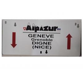 Plaque d'itinéraire Alpazur