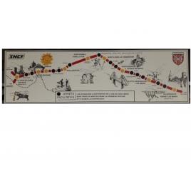 Ancienne plaque de la ligne du Train jaune