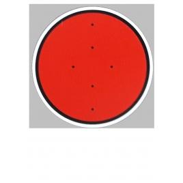Disque rouge, signalisation mécanique