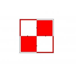 Carré rouge et blanc