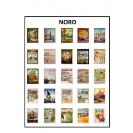 Affiches Chemin de fer du Nord 1/43,5 échelle zéro