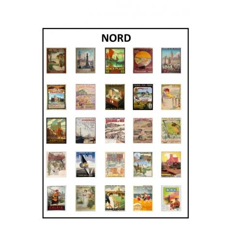 Affiches anciens réseaux Chemins de fer du Nord HO 1/87
