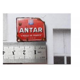 "Repro de plaque émaillée ""Antar"" 1/43,5 - 1/87"