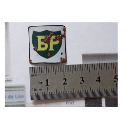 """Repro de plaque émaillée """"Bp"""" 1/43,5 - 1/87"""