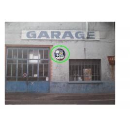 """Repro de plaque émaillée """"Esso avec Goutte"""" 1/43,5 - 1/87"""