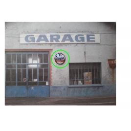 """Repro de plaque émaillée """"Vespa Service"""" 1/43,5 - 1/87"""