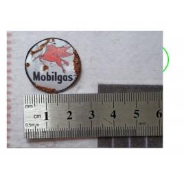 """Repro de plaque émaillée """"MobilGas"""" 1/43,5 - 1/87"""