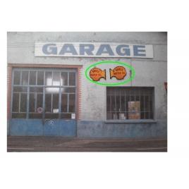 "Repro de plaque émaillée "" Enseigne Shell Motor Oil""  - 1/87"