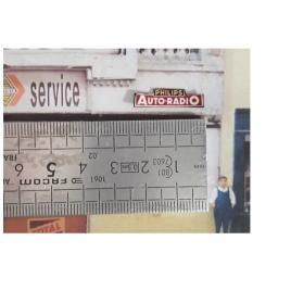 Repro plaque émaillée Philps Auto-Radio 1/87