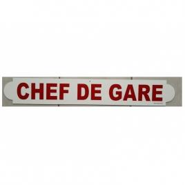 Plaque Chef de gare Rouge
