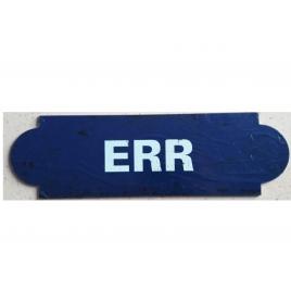 Repro plaque de la gare d'ERR, desservie par le train Jaune