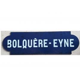 Repro de la plaque de la gare de Bolquère-Eyne desservie par le train jaune