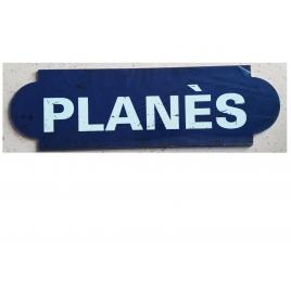 Repro de la plaque de la gare de Planès, desservie pa rle Train Jaune