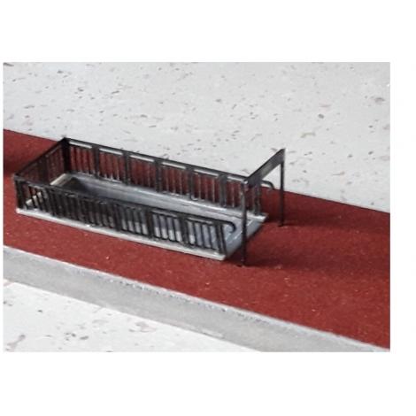 Garde-corps de trémie pour escalier de souterrains, gares et villes