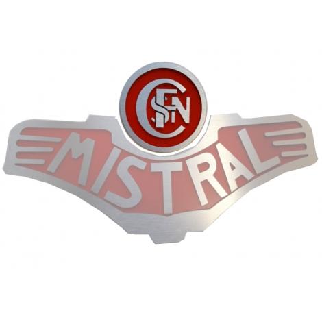 Logo entrelacé Sncf pour plaque Mistral vapeur