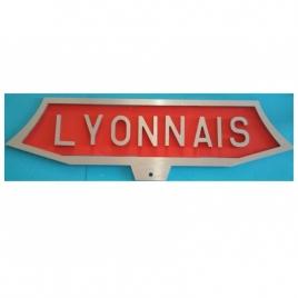 Plaques train Le Lyonnais