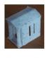 Petite chapelle en marbre pour cimetière, échelle N