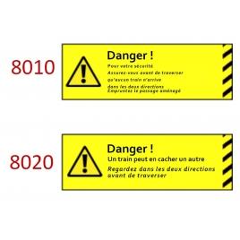 Plaque de sécurité de gares 8010 8020 échelle zéro