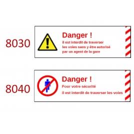 Plaque de sécurité de gares 8030 8040 échelle zéro