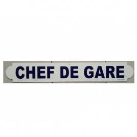Plaque Chef de gare