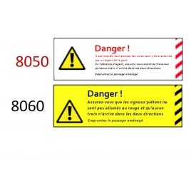 Plaque de sécurité de gares 8050 8060 échelle zéro