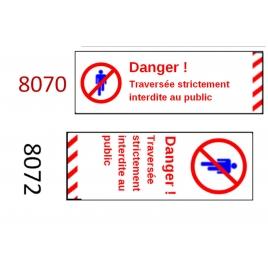 Plaque de sécurité de gares 8070 8072 échelle zéro