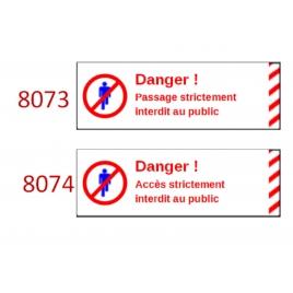 Plaque de sécurité de gares 8073 8074 échelle zéro