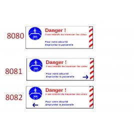 Plaque de sécurité de gares 8080 8081 8082 échelle zéro