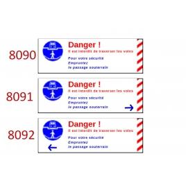 Plaque de sécurité de gares 8090-8091-8092 échelle zéro