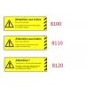 Plaque de sécurité de gares 8100-8110-8120 échelle zéro