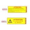 Plaque de sécurité de gares 8205-8301 échelle zéro