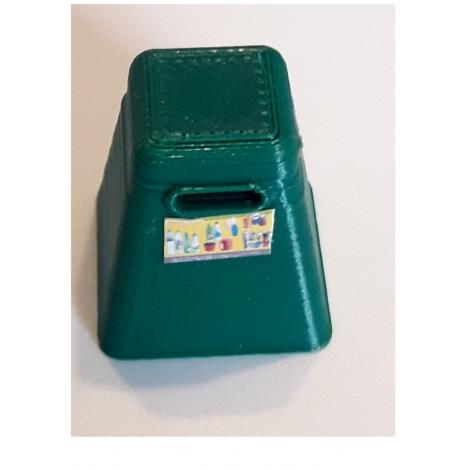 Borne de recyclage pyraamide pour bouteilles plastiques, échelle Ho