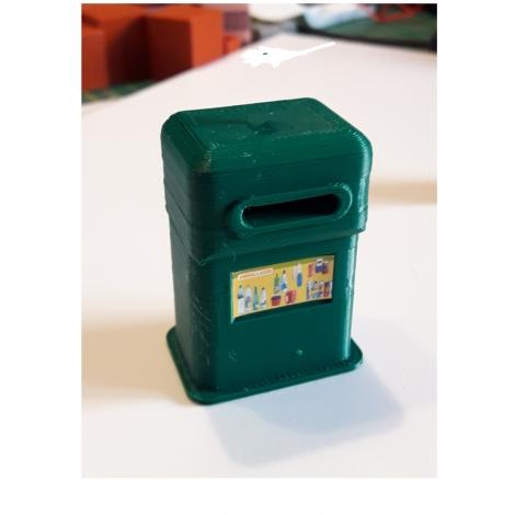 Borne de recyclage pour bouteilles plastiques, échelle zéro