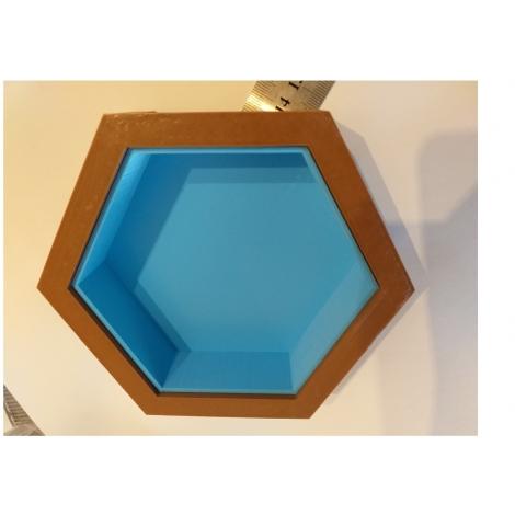Grande piscine hexagonale échelle zéro
