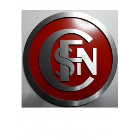 Logo Sncf entrelacé diam 18 cm