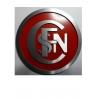 Logo Sncf entrelacé diam 18 cm fond rouge