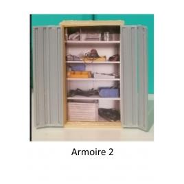 Armoire de bureau mod 2,  échelle zéro.