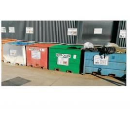Bac de recyclage pour le papier et le carton, échelle zéro