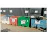 Bac de recyclage pour les déchets en mélange, échelle zéro