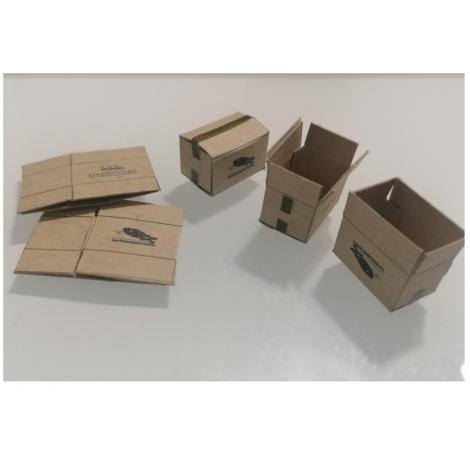 Cartons de déménagements Bretons échelle zéro