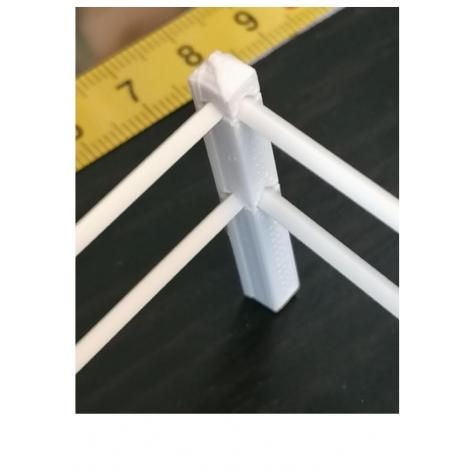 4 poteaux d'angle pour clôture paddock 1/32