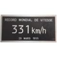 Plaques records du monde